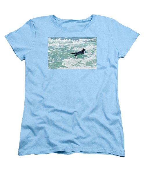 Otter At Montana De Oro Women's T-Shirt (Standard Cut)