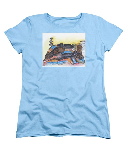 Our Bed Now Women's T-Shirt (Standard Cut) by Clyde J Kell