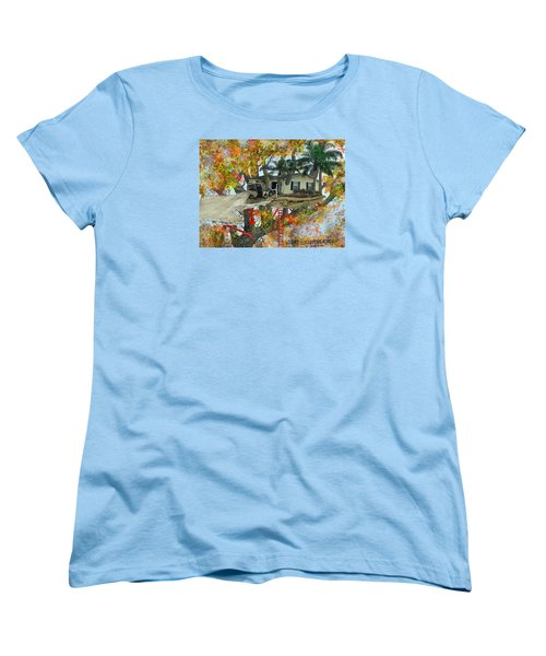 Women's T-Shirt (Standard Cut) featuring the drawing Our Tree House by Jim Hubbard