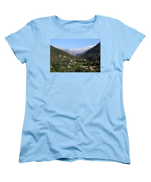 Women's T-Shirt (Standard Cut) featuring the photograph Ourika Valley 2 by Andrew Fare