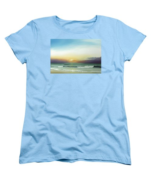 Women's T-Shirt (Standard Cut) featuring the painting East Coast Sunrise by Albert Puskaric