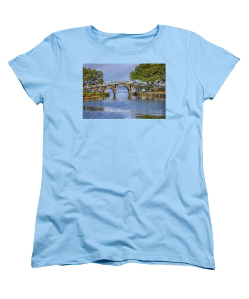 Outer Banks Whalehead Club Bridge  Women's T-Shirt (Standard Cut) by Randy Steele