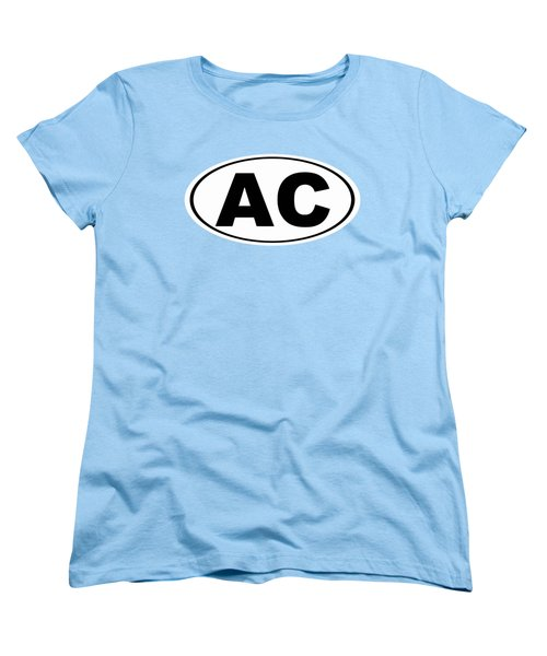 Women's T-Shirt (Standard Cut) featuring the photograph Oval Ac Atlantic City New Jersey Home Pride by Keith Webber Jr