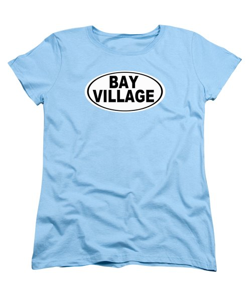 Women's T-Shirt (Standard Cut) featuring the photograph Oval Bay Village Ohio Home Pride by Keith Webber Jr