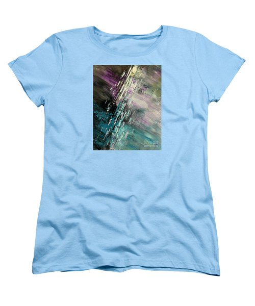 Women's T-Shirt (Standard Cut) featuring the painting Over Cosmic Clouds by Tatiana Iliina