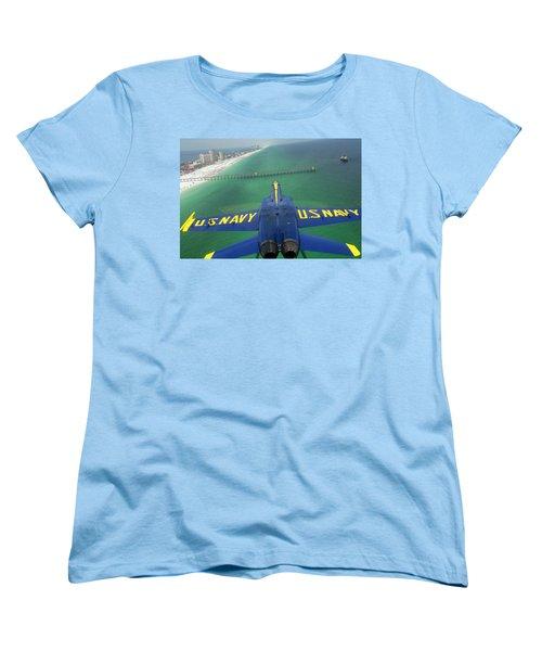 Over Pensacola Beach Women's T-Shirt (Standard Cut)