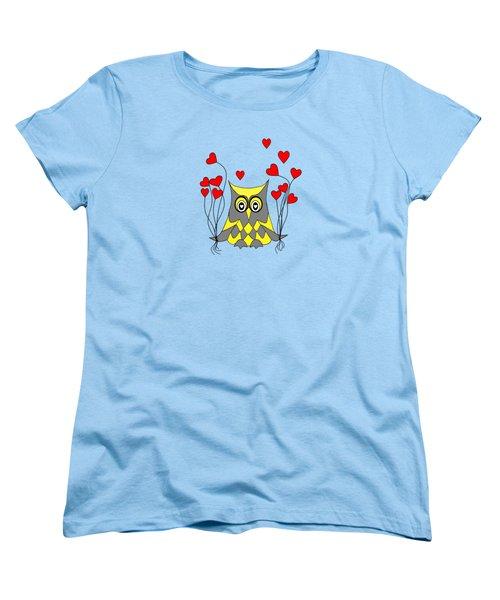 Owl Always Love You Women's T-Shirt (Standard Cut) by Kathleen Sartoris