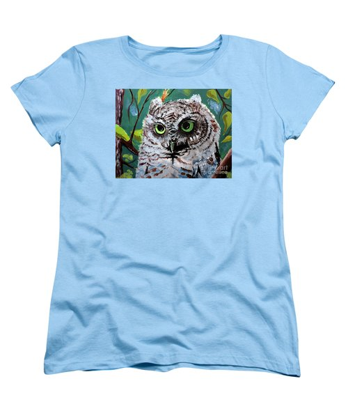 Owl Be Seeing You Women's T-Shirt (Standard Cut) by Tom Riggs