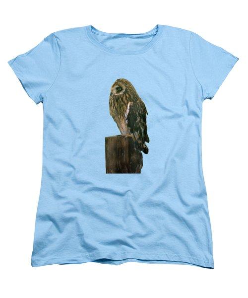 Owl Women's T-Shirt (Standard Cut) by Pamela Walton