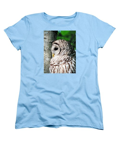 Owl Profile Women's T-Shirt (Standard Cut) by Christy Ricafrente