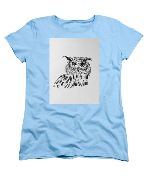 Owl Study 2 Women's T-Shirt (Standard Cut) by Victoria Lakes