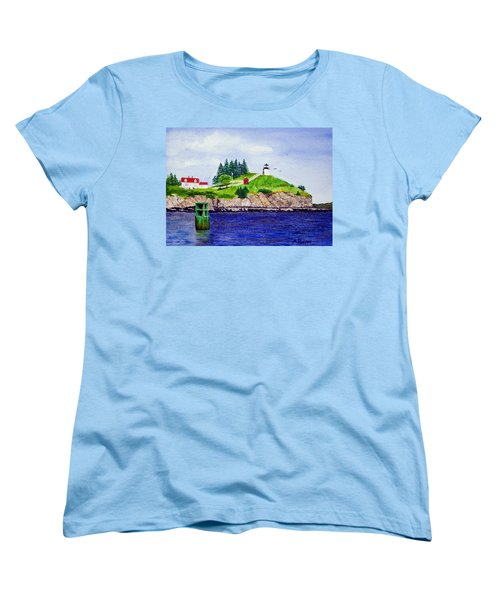 Owls Head Lighthouse Women's T-Shirt (Standard Cut) by Mike Robles