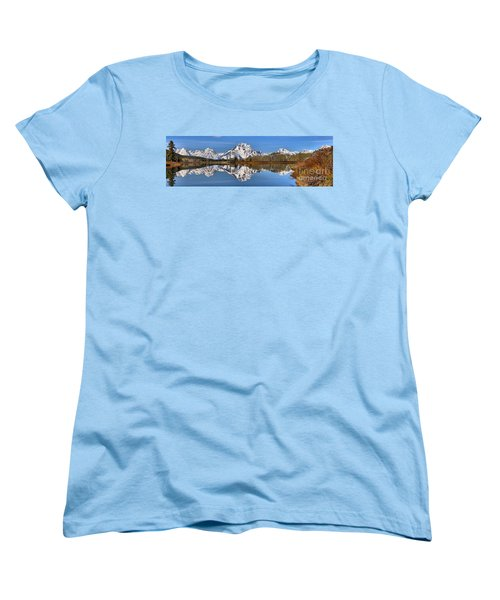 Oxbow Snake River Reflections Women's T-Shirt (Standard Cut) by Adam Jewell