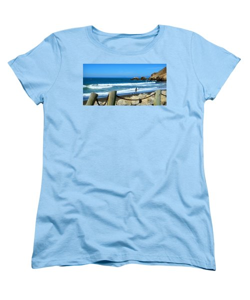 Women's T-Shirt (Standard Cut) featuring the photograph Pacifica Coast by Glenn McCarthy Art and Photography
