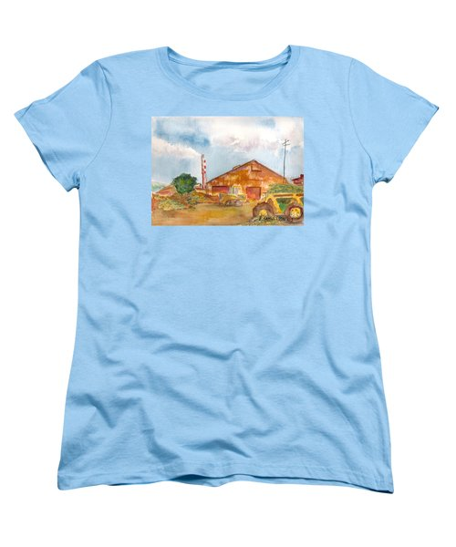 Women's T-Shirt (Standard Cut) featuring the painting Paia Mill 3 by Eric Samuelson