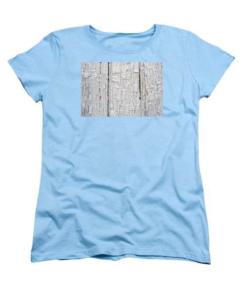 Women's T-Shirt (Standard Cut) featuring the photograph Painted Aged Wood by John Williams