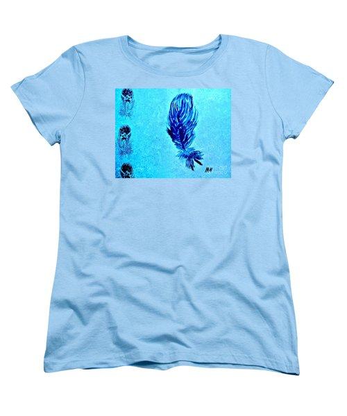 Painted Feather Women's T-Shirt (Standard Cut) by Marsha Heiken