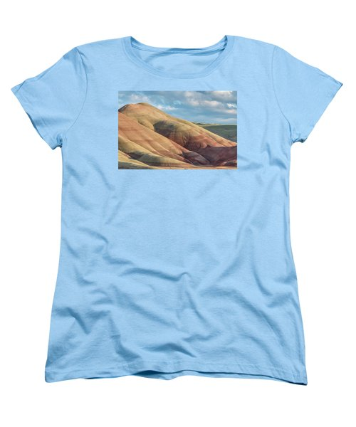 Women's T-Shirt (Standard Cut) featuring the photograph Painted Hill And Clouds by Greg Nyquist