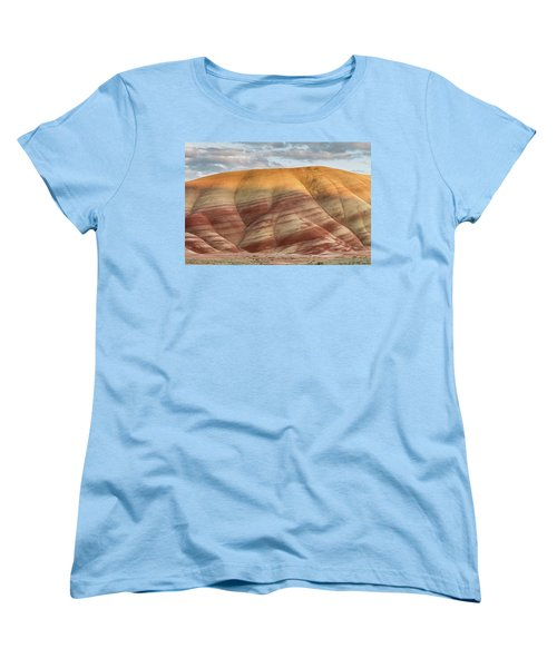 Women's T-Shirt (Standard Cut) featuring the photograph Painted Hill At Last Light by Greg Nyquist