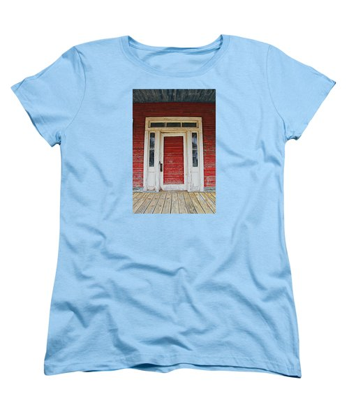 Painted Red Women's T-Shirt (Standard Cut) by Lynn Jordan