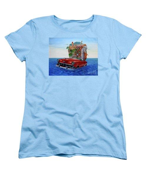 Paisaje Pasado Por Agua Women's T-Shirt (Standard Cut) by Jorge L Martinez Camilleri