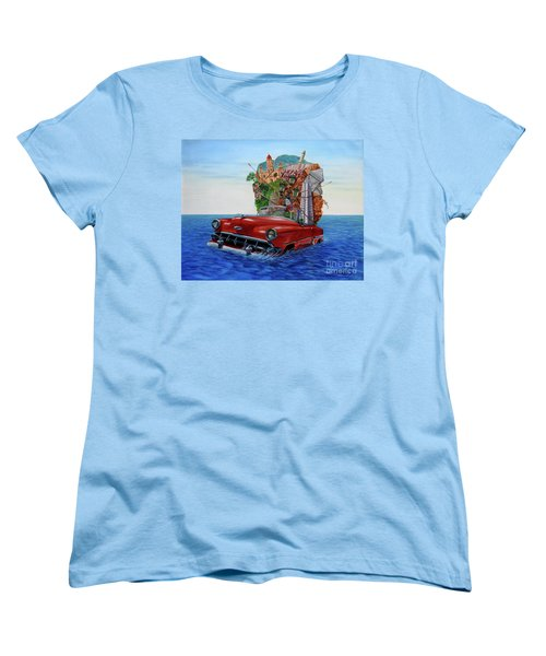 Paisaje Pasado Por Agua Women's T-Shirt (Standard Cut)