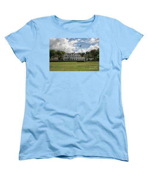 Palace Of President In Paramaribo Women's T-Shirt (Standard Cut) by Patricia Hofmeester