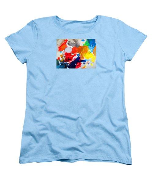 Women's T-Shirt (Standard Cut) featuring the photograph Palette by Barbara McDevitt
