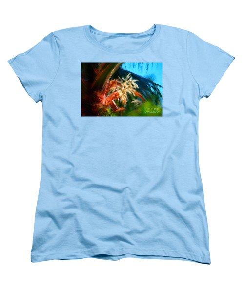 Palm Flowers Women's T-Shirt (Standard Cut)