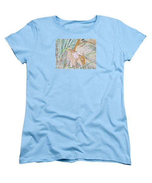 Palm Flowers Women's T-Shirt (Standard Cut) by Hilda and Jose Garrancho