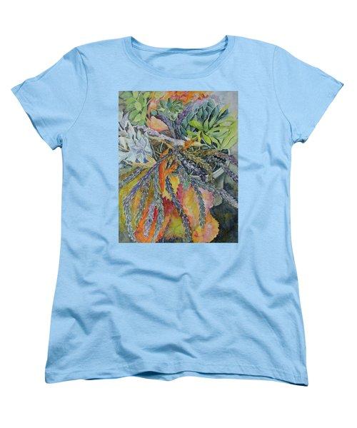 Palm Springs Cacti Garden Women's T-Shirt (Standard Cut) by Joanne Smoley