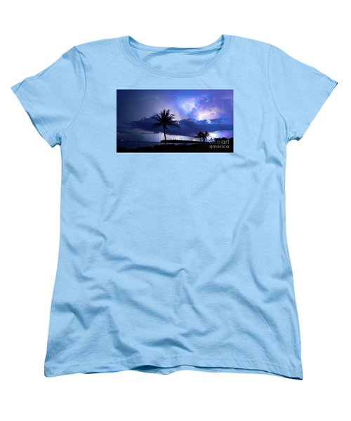 Palm Tree Nights Women's T-Shirt (Standard Cut) by Quinn Sedam