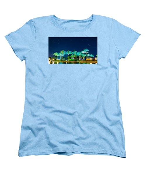 palm Trees Women's T-Shirt (Standard Cut) by Hyuntae Kim