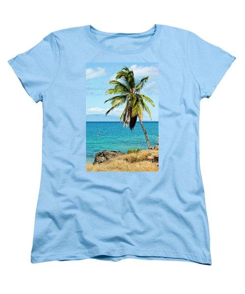Women's T-Shirt (Standard Cut) featuring the photograph Palms On Hawaiian Beach 12 by Micah May