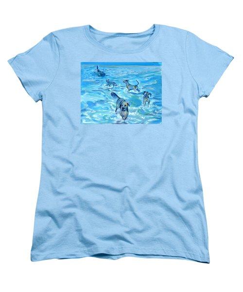 Panama. Salted Dogs Women's T-Shirt (Standard Cut) by Anna  Duyunova