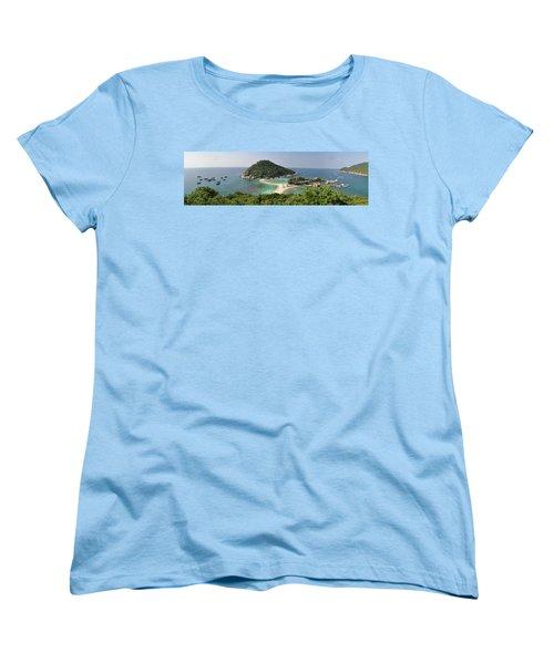 panorama Koh Nang Yuan Women's T-Shirt (Standard Cut) by Sushko