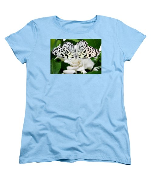 Paperkite On Gardenia Women's T-Shirt (Standard Cut) by Kristin Elmquist