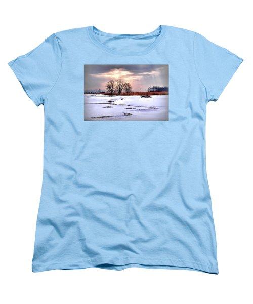 Par For Winter's Course Women's T-Shirt (Standard Cut) by Diana Angstadt