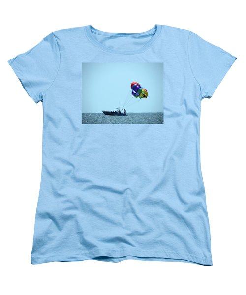 Parasail Women's T-Shirt (Standard Cut) by Cathy Harper