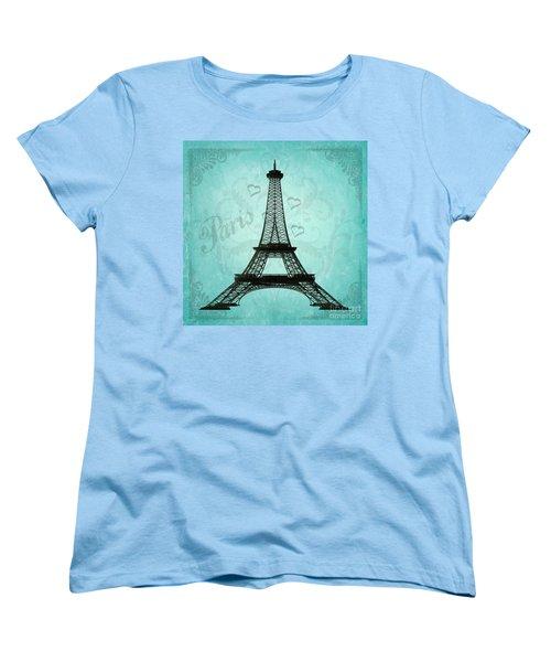 Paris Collage Women's T-Shirt (Standard Cut) by Jim and Emily Bush