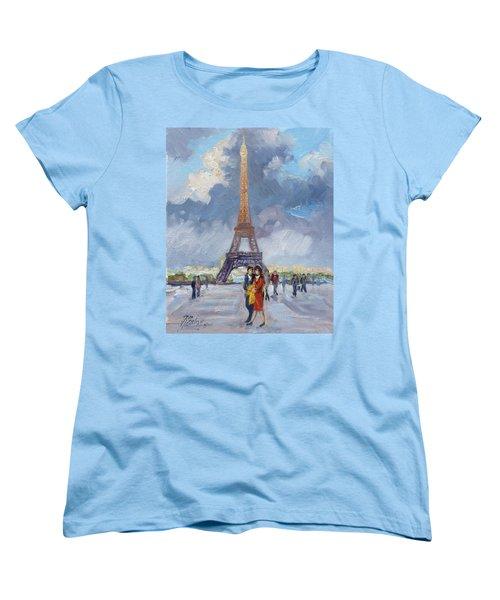 Paris Eiffel Tower Women's T-Shirt (Standard Cut)