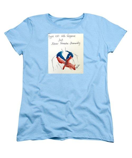 Women's T-Shirt (Standard Cut) featuring the painting Paris, Pour Toi by Trilby Cole