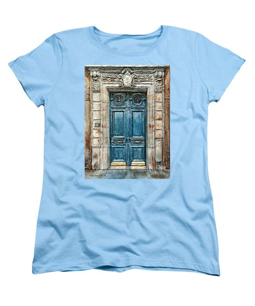 Parisian Door No. 3 Women's T-Shirt (Standard Cut) by Joey Agbayani