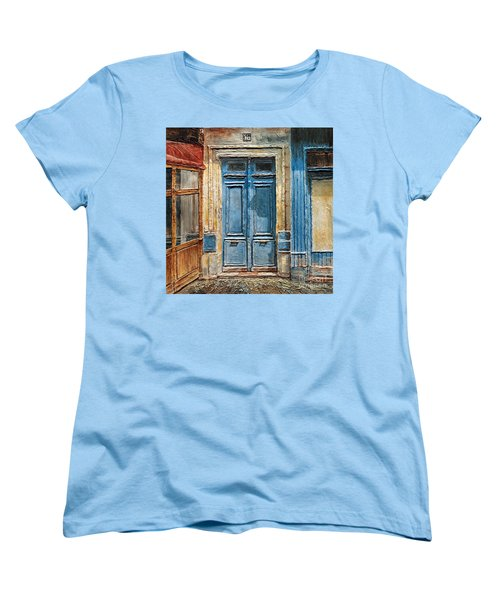 Parisian Door No.36 Women's T-Shirt (Standard Cut) by Joey Agbayani