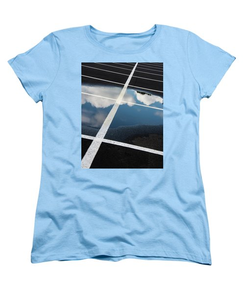 Parking Spaces For Clouds Women's T-Shirt (Standard Cut) by Gary Slawsky