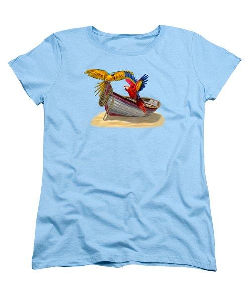 Parrots Of The Caribbean Women's T-Shirt (Standard Cut)