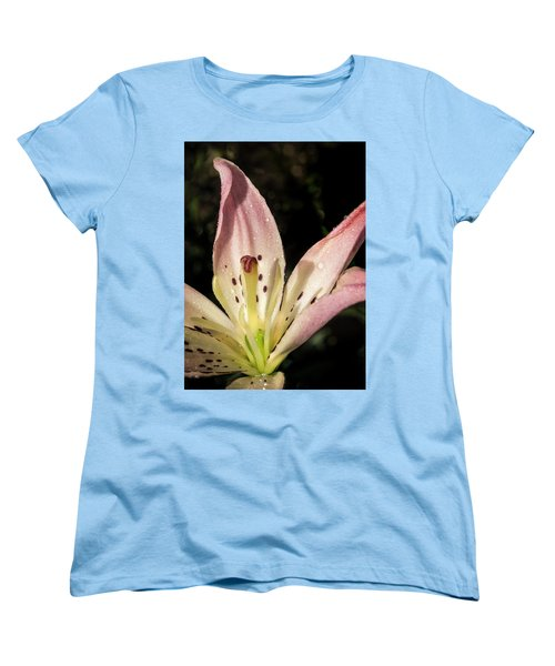 Women's T-Shirt (Standard Cut) featuring the photograph Partitioned Lily by Jean Noren