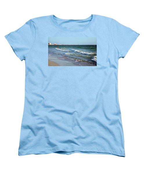 Women's T-Shirt (Standard Cut) featuring the photograph Passagrill Beach by Ginny Schmidt