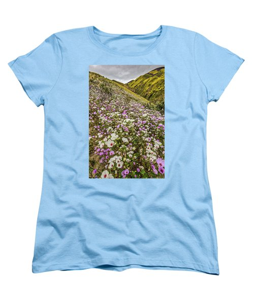 Women's T-Shirt (Standard Cut) featuring the photograph Pastel Super Bloom by Peter Tellone