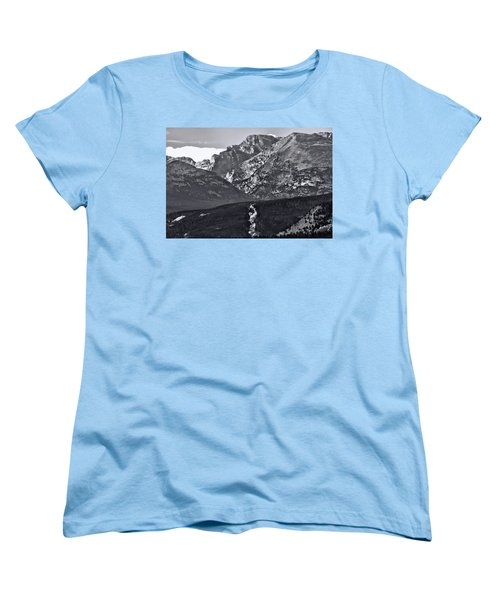 Women's T-Shirt (Standard Cut) featuring the photograph Path To Longs Peak by Dan Sproul